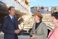 Обласният управител с представителите на Норвежкия директорат за културно наследство.