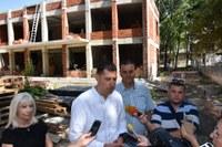 """Иван Тотев и Николай Чунчуков инспектираха строителството на новата детска ясла в """"Източен"""""""