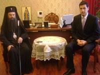 Иван Тотев измоли Божия благословия от Митрополит Николай