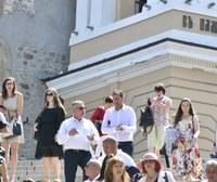 Иван Тотев присъства на празничната литургия в катедралния храм в Пловдив