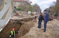 """Кметът Иван Тотев инспектира строителството на булевард """"Васил Априлов"""""""