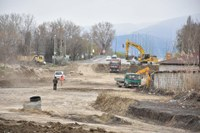 """Кметът Иван Тотев инспектира строителството на новия булевард в """"Северен"""""""