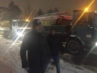 Кметът Иван Тотев лично контролира снегопочистването в Пловдив