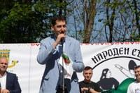 """Кметът Иван Тотев: Народният събор в парк """"Лаута"""" е фестивал, който може да продължи във времето"""