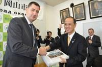 Кметът Иван Тотев се срещна с кмета на побратимения японски град Окаяма