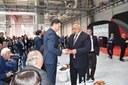 Министър-председателят Бойко Борисов преряза лентата на нов завод за автомобилни части