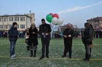 """Мултифункционална спортна площадка радва децата от квартал """"Коматево"""""""