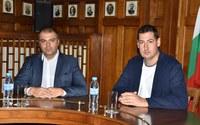 Първа среща на кмета Иван Тотев и новия директор на ОДМВР Йордан Рогачев