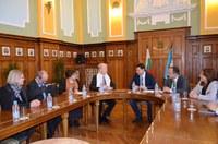 Първа среща на кмета на Пловдив Иван Тотев с новия френски посланик Ерик Льобедел