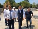 """Премиерът Бойко Борисов и кметът Иван Тотев инспектираха реконструкцията на площад """"Централен"""""""