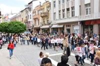 С многохилядно шествие Пловдив чества Деня на българската просвета, култура и славянската писменост