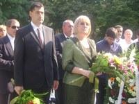 Цецка Цачева и Иван Тотев почетоха в Пловдив 126-тата годишнина от Съединението на България