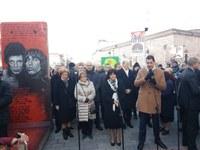 Цвета Караянчева и Иван Тотев откриха изложба на Берлинската стена в Пловдив