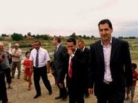 Цветан Цветанов и Иван Тотев откриха безопасния мост на Стряма