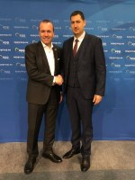 Цветан Цветанов и кметове от ГЕРБ се срещнаха с претендента за водещ кандидат на ЕНП за председател на новата Европейска комисия Манфред Вебер