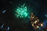 Уникална заря в небето над Пловдив в Новогодишната нощ