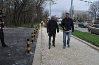 Усилено изграждат новите велоалеи по Транспортния проект в Пловдив