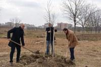 """Залесяват още 100 фиданки за поредното разширение на парк """"Лаута"""""""