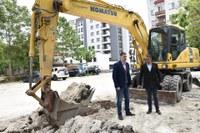 """Започна изграждането на обществен паркинг за 160 автомобила в район """"Централен"""""""