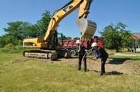 Започна изграждането на паркинг на Многофункционалната спортна зала