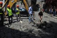 Започна пренареждане на калдъръма в Стария Пловдив
