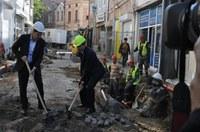 Започна разширяването на пешеходната зона в квартал Капана
